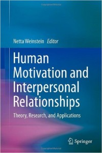 human motivation and interpersonal relationships